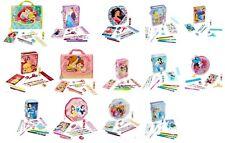 Disney Store Zip Up Art Case Stationary Kit School Supplies Pencils Markers