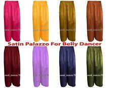 Satin palazzo Pant belly Dance Costume Long gypsy Palazzo Boho Pant Women S19