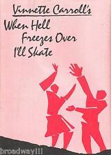 """Vinnette Carroll """"WHEN HELL FREEZES OVER I'LL SKATE"""" Cleavant Derricks 1984"""