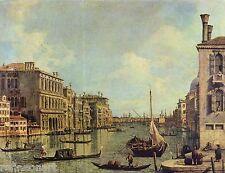 Canaletto Veduta del Canal Grande Giclee Canvas Print