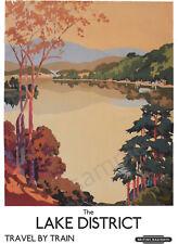 TU25 Vintage Lake District LMS Railway Travel Poster Re-Print A4