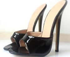 Womens High Heel Open Toe Slingbacks Sandals Stilettos Slipper Mules Slides Shoe