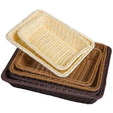 Woven Wicker Cane Bamboo Basket Breakfast Fruit Bread Roll Storage Display~