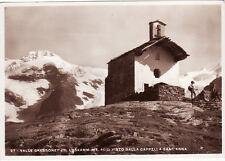#VAL D'AOSTA: VALLE GRESSONEY- IL LISKAMM VISTO DALLA CAPPELLA S. ANNA