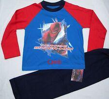 Personnalisé ultimate spiderman rouge/bleu pyjama âge 4 - 10 ans avec nom