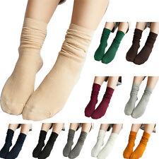 2x Femme Fille Coton Doux Hiver Chaussettes Cheville Socquette Socks Bas Chaude