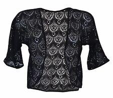 New Women Ladies crochet shrug Bolero Open Small Cardigan Plus SIze 12-28