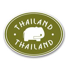 2 X 10 Cm Tailandia Vinilo Sticker Etiqueta de equipaje de viaje portátil coche tailandés Regalo # 6413
