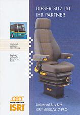 Isri 6000/517 Pro Bus-Sitz Prospekt 2002 brochure omnibus seat 1AA++!