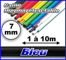 GTB-7# gaine thermo rétractable  bleu 7mm de 1 à 10m choix dans l'annonce 1/2
