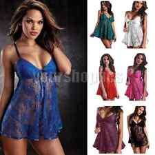 Women Sexy Lingerie lace Dress Babydoll Sleepwear Nightwear Underwear G-string