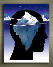 Psychology unconscious mind Framed Canvas Poster Miller Sz: S to XXL