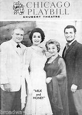 "Jerry Herman ""MILK & HONEY"" Robert Weede / Molly Picon 1963 Chicago Playbill"