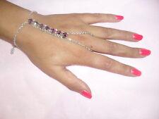 Kiss Jewel Bathroom ARG. Shiny Rhinestones amet Purple Kiss Hand Made in Italy