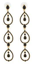 Zest Triple Pear Drop Swarovski Crystal Pierced Earrings