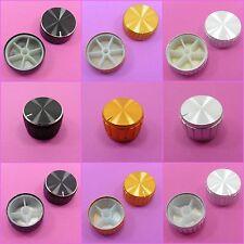 15/21/26/30/40 x 17mm Aluminum Potentiometer Knob for 6 mm Shaft Control Cap