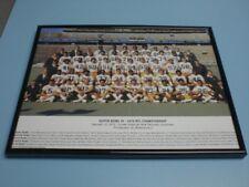 1974 STEELERS NFL CHAMPS SUPERBOWL IX FRAMED 11x14