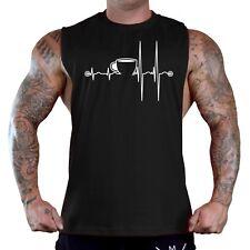 Men's Coffee Cup Heartbeat Black T-Shirt Tank Top Funny Caffeine Humor Energy