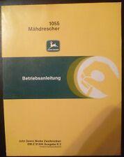 John DEERE Moissonneuses-batteuses 1055 instructions