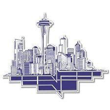 Seattle Retro Car Vinyl Sticker - SELECT SIZE