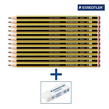 NEW Staedtler Noris School pencils HB 120 121 + ERASER **CHOOSE QTY** *FREE P&P*