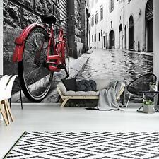 Wundervolle   Fototapete Tapete Wandbild 15F0248380 Rotes Fahrrad Stadt / städti