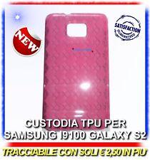 Pellicola + Custodia Grid Rosa Fucsia per Samsung i9100 galaxy s2 plus I9105