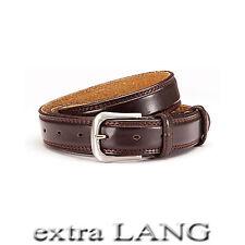 2 Gürtel XXL = 1 Preis / 3 cm breit Überlänge bis 165 cm kürzbar 17-2 mit Leder