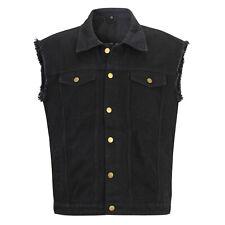 Capricorn Rockwear Jeans Weste Bomber schwarz mit ausgefransten Armen  106517  #