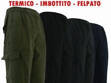 Pantalone tasconi x lavoro imbottito foderato per inverno blu nero verde grigio