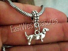 Sausage Wiener dachshund dog charm pendant for Bracelet necklace-European