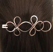 Celtic Knot Hair Barrette Copper Hair Clip U Shaped Hair Fork Metal Hair Slide