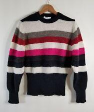 NWT Iro Badis Striped Ribbed Knit Sweater Multi Size M $250