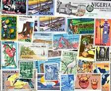 NIGERIA collections de 25 à 500 timbres différents
