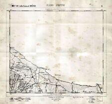 BRINDISI: FARO PENNE, TORRE TESTA, TORRE GUACETO. Grande Carta Geografica. 1874