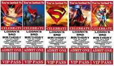 SUPERMAN - Personalised Ticket Style Birthday Invitation