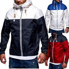 Herren Jacke Windbreaker mit Tasche Regenjacke Übergangsjacke Colour-Block NEU