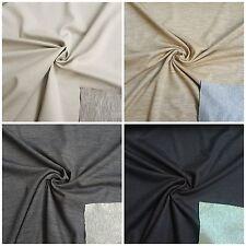 Stoffe Schurwolle-Baumwolljersey Uni Bekleidung Baumwolle Schurwolle Jersey Edel