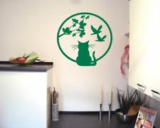 Katzenfenster Wandtattoo Vögel  25 Farben 3 Größen