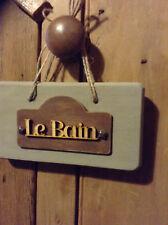 French Vintage Style Wooden Door Hanger .