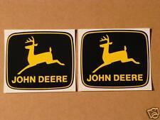 2 JOHN DEERE 3 inch 2-legged Yellow Deer Computer Cut DECALS Tractor J1993