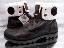 PALLADIUM Baggy 02610224 Rootbeer Pilot Leder Men Boots krempelbar Neu