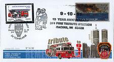 """WT11-7 FDC USA-FRANCE """"10 ans Attentats 11 Septembre / 1er Jour Pompiers"""" 2011"""