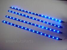 """4x 12"""" Super Blue 1210 SMD Flexible LED 12V Light Strips for car/truck/suv/RV"""
