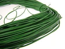 Lederschnur (ab 0,34€/m) Rund 1,5 mm. Grün. Lederband. Länge: wählbar