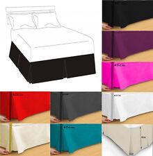 Luxury Plain Dyed Poly Cotton Platform Base Valance Box Pleated Sheet All Sizes