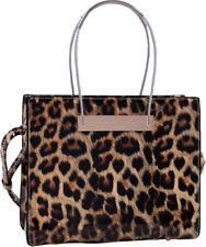 Leopard Print Soft Faux Leather Designer Tote Shop Handbag Purse