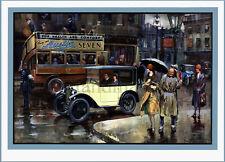 Austin, Austin 7, Vintage, Cars, 1930s, Art Deco, A3 Poster Print