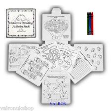 Childrens WEDDING attività PACK DA COLORARE GIOCHI DI PAROLE Puzzle IDEALE qualsiasi partito