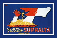 Chef Pasta Spaghetti Supralta French Food Fine Vintage Poster Repro FREE SH
